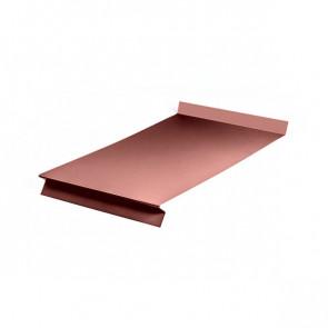 Отлив оконный (20x350x20x20)*2000 полиэстер RAL 3009 (красная окись)