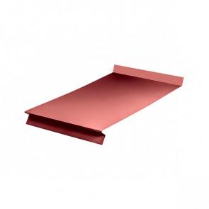 Отлив оконный (20x350x20x20)*1250 полиэстер RAL 3011 (коричнево-красный)