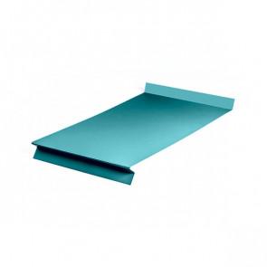 Отлив оконный (20x350x20x20)*1250 полиэстер RAL 5021 (водная синь)