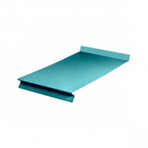 Отлив оконный (20x350x20x20)*2000 полиэстер RAL 5021 (водная синь)