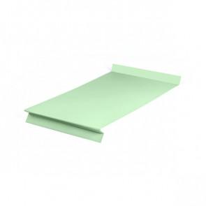 Отлив оконный (20x350x20x20)*2000 полиэстер RAL 6019 (бело-зеленый)