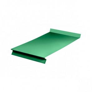 Отлив оконный (20x350x20x20)*1250 полиэстер RAL 6029 (мятно-зеленый)