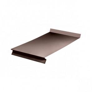 Отлив оконный (20x350x20x20)*1250 стальной бархат RAL 8017 (шоколадно-коричневый)