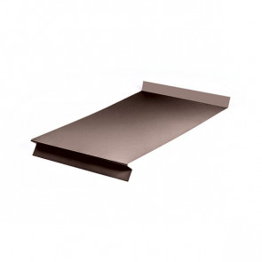 Отлив оконный (20x350x20x20)*2000 полиэстер RAL 8017 (шоколадно-коричневый)