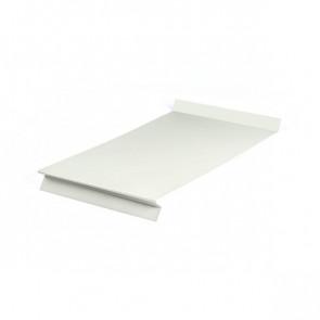 Отлив оконный (20x350x20x20)*2000 полиэстер RAL 9002 (серо-белый)