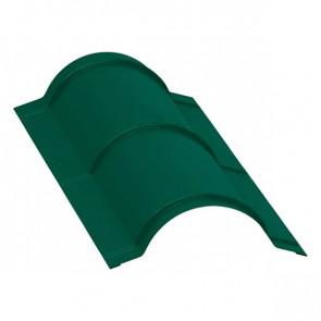 Планка конька полукруглого, R=110 мм/L=2 м, RAL 6005 (зеленый мох), порошковая окраска