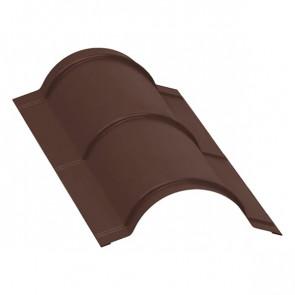 Планка конька полукруглого, R=110 мм/L=2 м, RAL 8017 (шоколадно-коричневый), порошковая окраска
