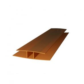 Профиль соединительный HP (6000*8) цвет бронзовый (Поликарбонат)
