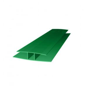 Профиль соединительный HP (6000*8) цвет зеленый (Поликарбонат)