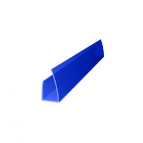 Профиль торцевой UP (2100*4) цвет синий (Поликарбонат)