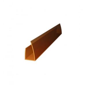 Профиль торцевой UP (2100*8) цвет бронзовый (Поликарбонат)