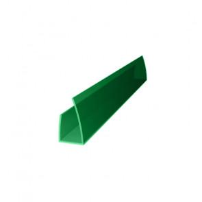 Профиль торцевой UP (2100*6) цвет зеленый (Поликарбонат)