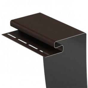 Профиль околооконный для винилового сайдинга DOCKE (3600*200) шоколад
