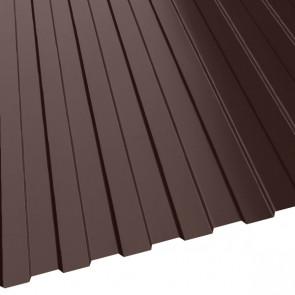 Профнастил МП-10 (1200/1100) 0,45 полиэстер RAL 8017-8017 (шоколадно-коричневый)