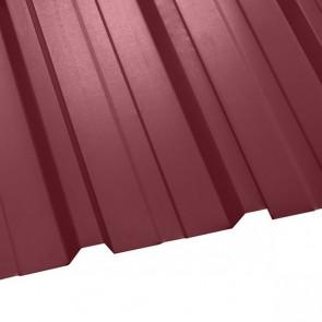 Профнастил НС-35 (1075/1015) стальной бархат 0,5 RAL 3005 (винно-красный)