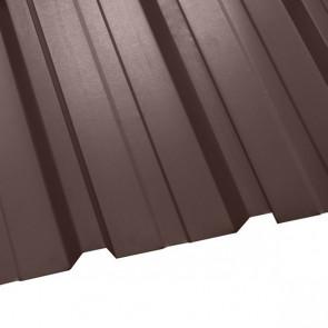 Профнастил НС-35 (1075/1015) стальной бархат 0,5 RAL 8017 (шоколадно-коричневый)