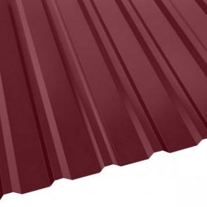 Профнастил R-20 (R) с капельником (1130/1080) 0,55 полиэстер RAL 3005 (винно-красный)