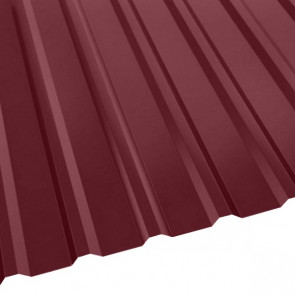 Профнастил R-20 (R) с капельником (1130/1080) стальной бархат 0,5 RAL 3005 (винно-красный)