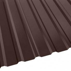 Профнастил R-20 (R) с капельником (1130/1080) стальной бархат 0,5 RAL 8017 (шоколадно-коричневый)
