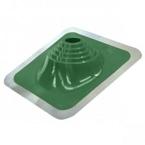 Проходка кровельная угловая № 1 D=75/H=200 мм (от -65 °C до +135 °C), зеленая, ЭПДМ резина/алюминий (Вентиляция)