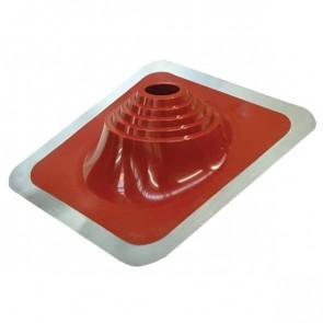 Проходка кровельная угловая № 1 D=75/H=200 мм (от -65 °C до +135 °C), красная, ЭПДМ резина/алюминий