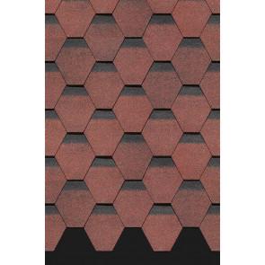 Гибкая черепица DOCKE PREMIUM ШЕФФИЛД (318*1000), цвет клубника