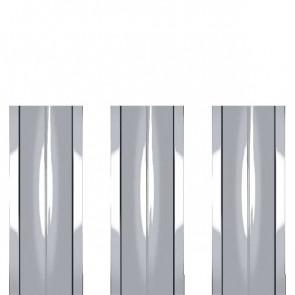 Штакетник металлический ШМ-114 (прямой) 0,5 ZN (оцинкованная сталь)