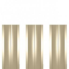 Штакетник металлический ШМ-114 (прямой) 0,45 полиэстер RAL 1014 (слоновая кость)