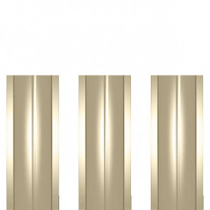 Штакетник металлический ШМ-114 (прямой) 0,5 полиэстер RAL 1015 (слоновая кость светлая)