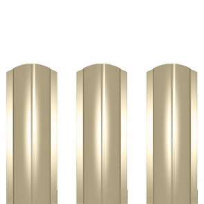 Штакетник металлический ШМ-114 (фигурный) полиэстер 0,4 RAL 1015