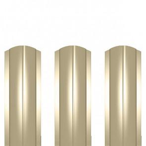 Штакетник металлический ШМ-114 (фигурный) полиэстер 0,5 RAL 1015