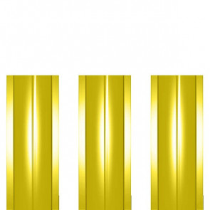 Штакетник металлический ШМ-114 (прямой) 0,45 полиэстер RAL 1018 (цинково-желтый)