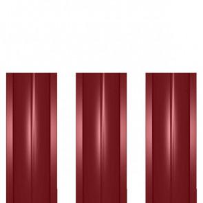Штакетник металлический ШМ-114 (прямой) 0,5 полиэстер RAL 3003 (рубиново-красный)