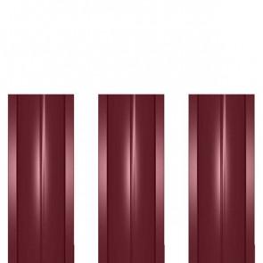 Штакетник металлический ШМ-114 (прямой) 0,4 полиэстер RAL 3005 (винно-красный)
