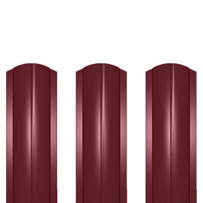 Штакетник металлический ШМ-114 (фигурный) 0,45 полиэстер RAL 3005 (винно-красный)