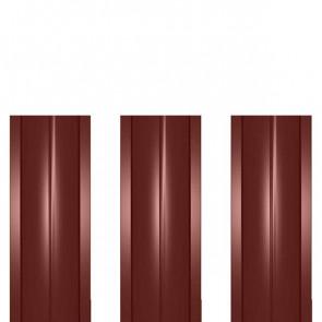 Штакетник металлический ШМ-114 (прямой) 0,4 полиэстер RAL 3009 (красная окись)