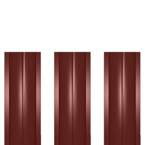 Штакетник металлический ШМ-114 (прямой) 0,5 полиэстер RAL 3009 (красная окись)