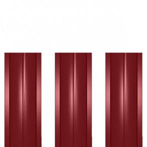 Штакетник металлический ШМ-114 (прямой) 0,5 полиэстер RAL 3011 (коричнево-красный)