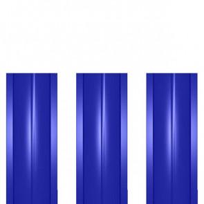 Штакетник металлический ШМ-114 (прямой) 0,5 полиэстер RAL 5002 (ультрамарин)
