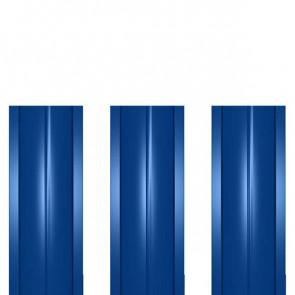 Штакетник металлический ШМ-114 (прямой) 0,5 полиэстер RAL 5005 (сигнальный синий)
