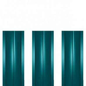 Штакетник металлический ШМ-114 (прямой) 0,4 полиэстер RAL 5021 (водная синь)