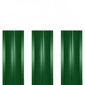 Штакетник металлический ШМ-114 (прямой) 0,45 полиэстер RAL 6002 (лиственно-зеленый)