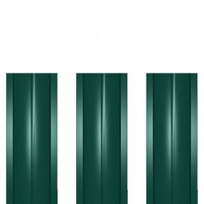 Штакетник металлический ШМ-114 (прямой) 0,4 полиэстер RAL 6005 (зеленый мох)