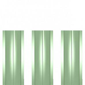 Штакетник металлический ШМ-114 (прямой) 0,45 полиэстер RAL 6019 (бело-зеленый)