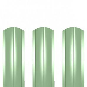 Штакетник металлический ШМ-114 (фигурный) полиэстер 0,4 RAL 6019
