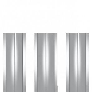 Штакетник металлический ШМ-114 (прямой) 0,4 полиэстер RAL 7004 (сигнальный серый)