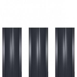 Штакетник металлический ШМ-114 (прямой) 0,45 полиэстер RAL 7024 (графитовый серый)