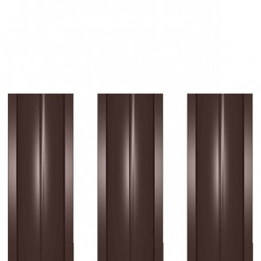 Штакетник металлический ШМ-114 (прямой) 0,4 полиэстер RAL 8017 (шоколадно-коричневый)