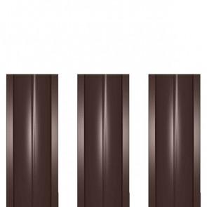 Штакетник металлический ШМ-114 (прямой) 0,47 полиэстер RAL 8017-8017 (шоколадно-коричневый)