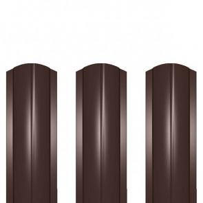 Штакетник металлический ШМ-114 (фигурный) 0,5 полиэстер RAL 8017 (шоколадно-коричневый)